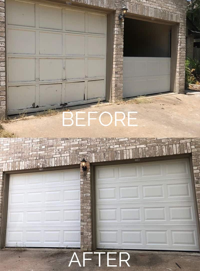 The Up and Up Garage Door Before and After 06