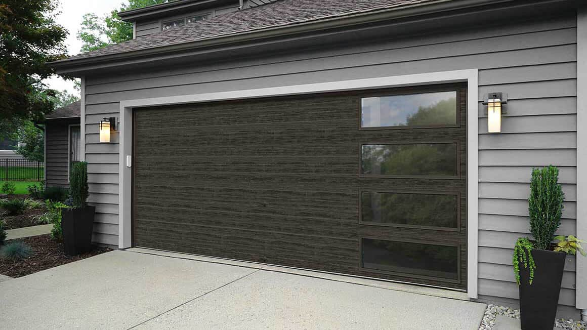 Slate Modern Steel Garage Door